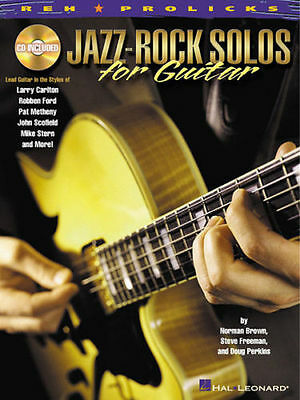 Jazz Rock Solos For Guitar Tab Book Cd NEW!