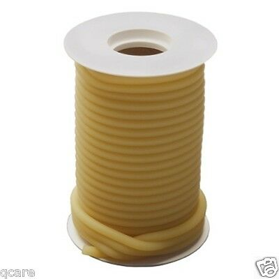 """50 ft Reel 1/8 ID x 1/16 x 1/4 OD Surgical Amber Latex Rubber Tubing w """" feet"""