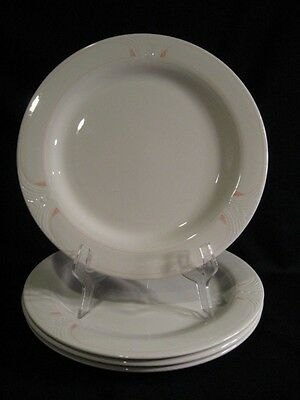 SYRACUSE CHINA USA SYRALITE LARGE DINNER PLATES - CHARGERS - FOUR
