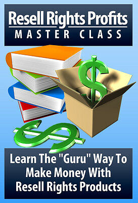 "Learn The ""Guru"" Way To Make Money With Resell Rights Products Videos on 1 CD"