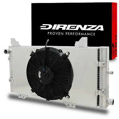 DIRENZA 40mm ALLOY RADIATOR RAD & FAN SHROUD FOR FORD ESCORT RS TURBO SERIES 1