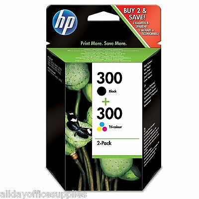 Genuine HP 300 Black and Colour Twin Pack Original Ink Cartridges New, Boxed