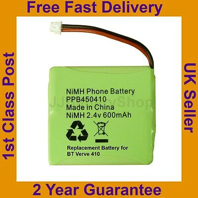New BT Verve 410 Phone Battery Nimh 2.4v 600mah 2 year guarantee
