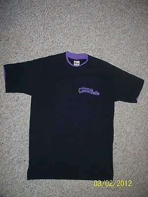 Dubuque Casino Belle Riverboat Casino Heavy Logo Tee Shirt Size Large Unused