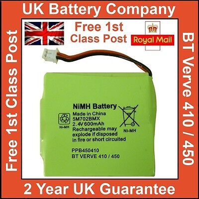 Replacement Cordless Phone Battery For Gp 5M702Bmx Nimh 2.4V 600Mah Ni-Mh Uk New
