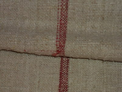 Antique European Feed Sack GRAIN SACK  Red Stripes # 2644