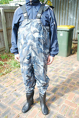 New Chest Waders for fishing rod & reel anglers sz 8-13