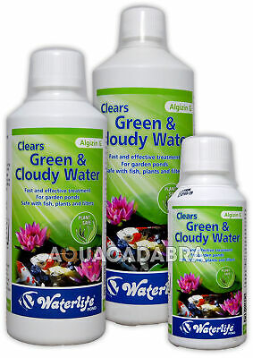 Waterlife Algizin G 250Ml 500Ml 1L Green Cloudy Water Garden Fish Pond Treatment