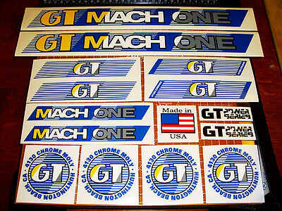 Tioga 88 GT BMX Pro Series Team 1987 restoration decal set on clear RED