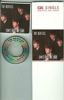 """The Beatles LONG BOX 3"""" inch CD Single Can't Buy Me Love You Can't Do That 1989"""