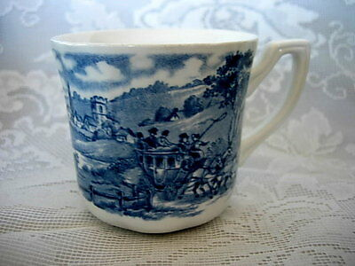 MEAKIN ROYAL STAFFORDSHIRE Blue Stratford Stage Cup / Mug - Made in England