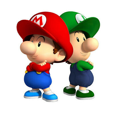 Baby Mario Bros 9 Edible Icing Party Cake Topper Decoration Image Custom
