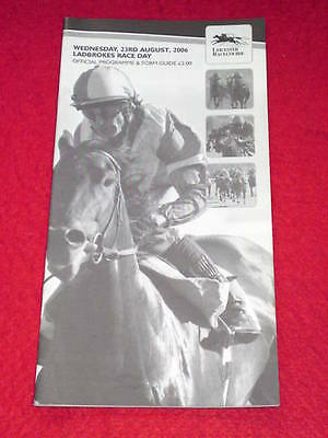 HORSE RACING PROGRAMME - LEICESTER - Aug 23 2008 - LADBROKES RACE DAY