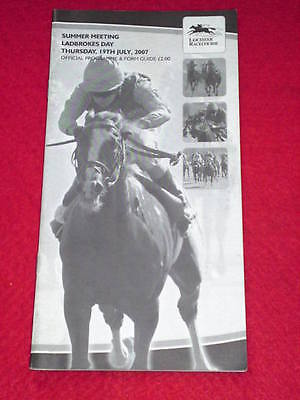 HORSE RACING PROGRAMME - LEICESTER - July 19 2007 - LADBROKES DAY