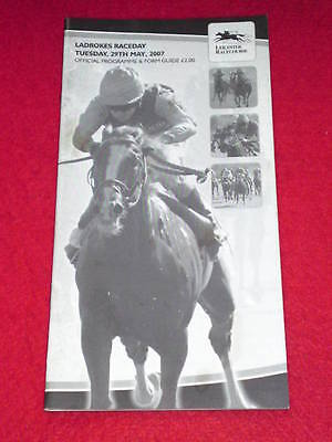 HORSE RACING PROGRAMME - LEICESTER - May 29 2007 - LADBROKES