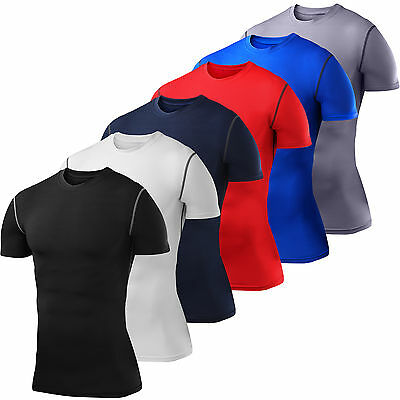 Mens Boys PowerLayer Compression Base Layer Short Sleeve Top Shirt Thermal Golf