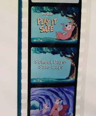 HANNA-BARBERA Filmstrip Set - Yogi Bear Play It Safe - educational school