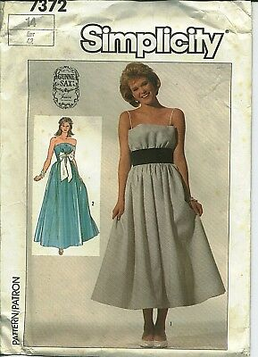 S 7372 sewing pattern Gunne Sax GOWN lovely Prom DRESS sew size 14 Jessica UNCUT