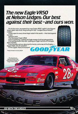 1983 Goodyear Chevrolet Camaro Tire - Classic Vintage Advertisement Ad PE90