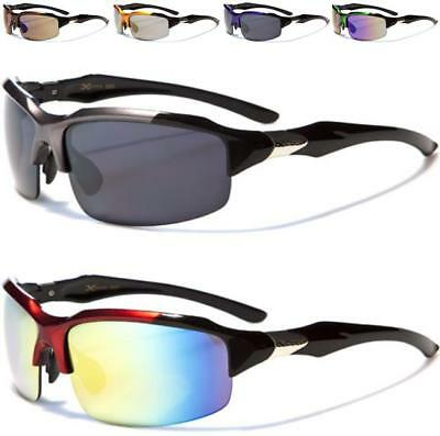 New Black Xloop Designer Mens Ladies Boys Large Big Wrap Sunglasses Sports Golf