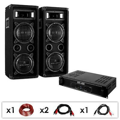 Super Dj Pa 1200W Club Sound Anlage Für Event Beschallung Bass Speaker Amplifier