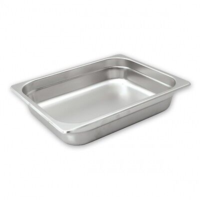 3 x Bain Marie Tray Gastronorm HACCP Steam Pans 1/2 Size 100mm 18/10 Stainless