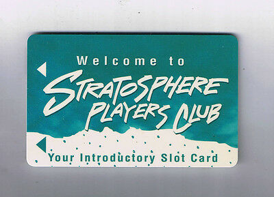 Stratosphere Hotel Casino Players Club Introductory Slot Machine Card Las Vegas
