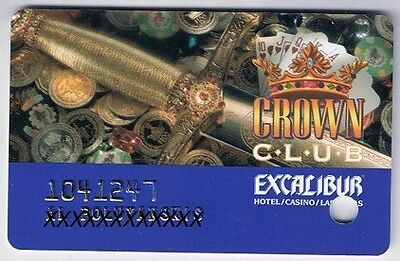 Excalibur Crown Club  Casino Slot Card Las Vegas Nevada