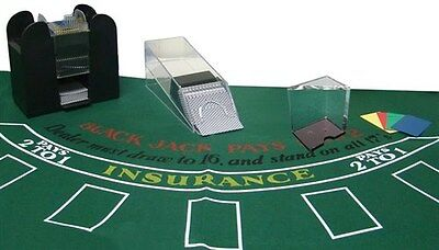 6 Deck Blackjack Combo Set - Everything Needed to Play, Dealer Shoe, Discard