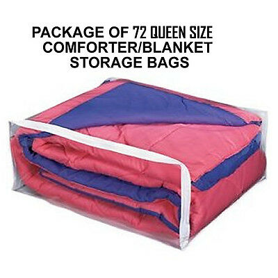 Case Of 72 Queen Size Comforter Supreme Storage Bags   Big Blanket Or Queen Size