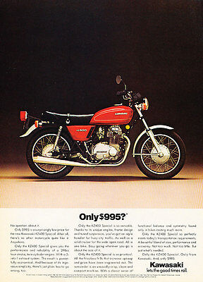 1976 Kawasaki KZ400 Motorcycle - Classic Vintage Advertisement Ad PE94