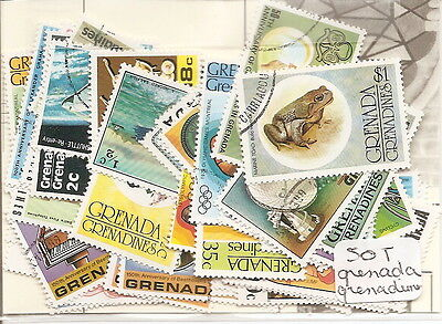 Grenade / Grenadines  : 50 Timbres Tous Differents