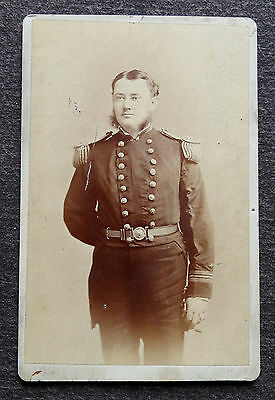 Union Civil War Naval Navy Officer In Uniform Cdv Photograph
