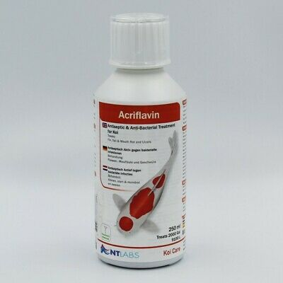NT Labs Koi Care Acriflavin 250ml Anti Bacterial Antiseptic Treatment Ulcer