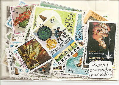 Grenade /grenadines : Lot De 100 Timbres Tous Differents