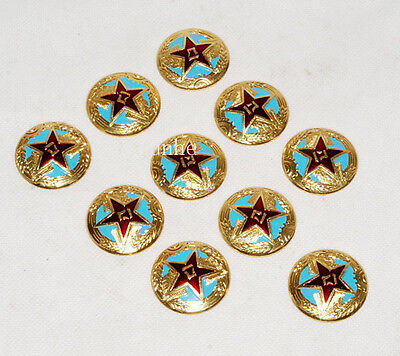 10 Pcs Chinese Army Military Pla Air Force Type 55 Cap Badge Insignias -31890