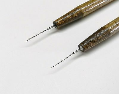 """Wax Working Files Reamer Set Wax Carving """"Detailer"""" Hand Tool Thin Shapes 2pcs"""