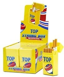 12 Top Strong Box King Size Plastic Cigarette Storage Cases Cig Case