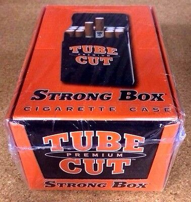 12 Gambler Tube Cut Strong Box Plastic Cigarette Storage Cases King Size