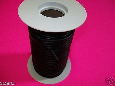 50 Foot Reel 1/8 X 1/32 X 3/16 Latex Black Rubber Tubing Surgical Id X W X Od