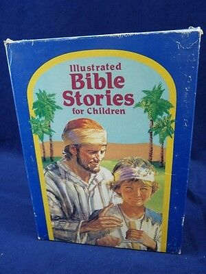 Illustrated Bible Stories for Children with 2 Cassettes Like New hardcover(169)