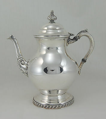 Sheets R. S. Co. Silverplate Hollowware Tea Pot and Lid 7.125 in. Scrolls 1875