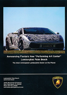 2008 Lamborghini Gallardo - Artwork - Classic Vintage Advertisement Ad PE99