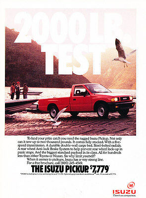 1990 Isuzu Pup Pickup Truck - 2000lbs - Classic Vintage Advertisement Ad A97