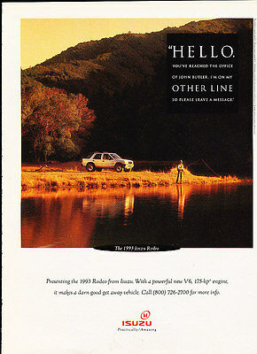 1993 Isuzu Rodeo - other line - Classic Vintage Advertisement Ad A97