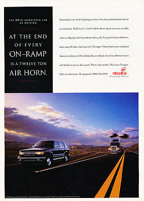1994 Isuzu Trooper - air horn - Classic Vintage Advertisement Ad A97