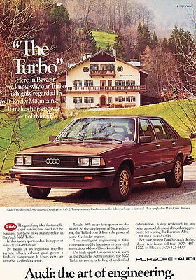 1981 Audi 5000 Turbo - brown - Classic Vintage Advertisement Ad A98
