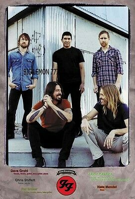 """FOO FIGHTERS ROCK BAND POSTER #1 24""""x35"""""""