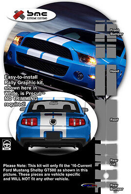 2010 2011 2012 Ford Mustang Shelby GT500 OE Style Rally Stripes Graphics Kit