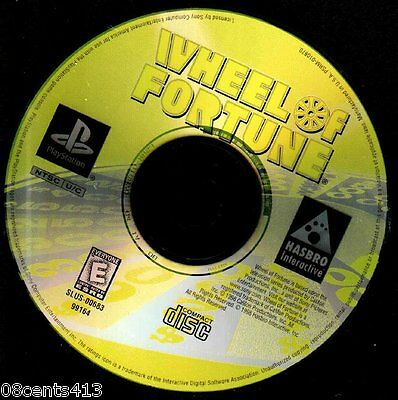 Wheel of Fortune (PlayStation PS1) Over 2,000 Different Puzzles! ~Buy A Vowel!